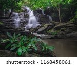 rain forest and waterfall... | Shutterstock . vector #1168458061