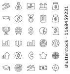 thin line vector icon set  ... | Shutterstock .eps vector #1168459231