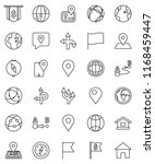 thin line vector icon set  ... | Shutterstock .eps vector #1168459447