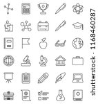 thin line vector icon set  ... | Shutterstock .eps vector #1168460287