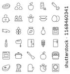 thin line vector icon set   pan ... | Shutterstock .eps vector #1168460341