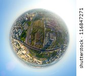 aerial city view with... | Shutterstock . vector #116847271
