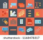 set of 20 icons such as attach  ... | Shutterstock .eps vector #1168478317