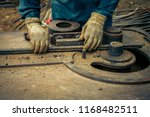 construction worker wearing... | Shutterstock . vector #1168482511