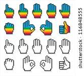 set of uncommon cursor hands in ... | Shutterstock .eps vector #116848555