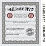 grey retro warranty template.... | Shutterstock .eps vector #1168489864