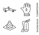 set of 4 vector linear icons... | Shutterstock .eps vector #1168492444