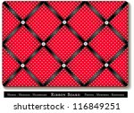 ribbon bulletin board. put... | Shutterstock .eps vector #116849251