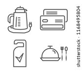 set of 4 vector linear icons... | Shutterstock .eps vector #1168495804