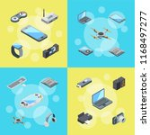 vector isometric gadgets icons... | Shutterstock .eps vector #1168497277