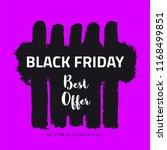 black friday sale banner. paint ... | Shutterstock .eps vector #1168499851
