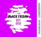 black friday sale banner. paint ... | Shutterstock .eps vector #1168500094
