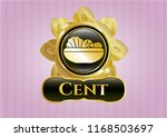 gold emblem with salad icon... | Shutterstock .eps vector #1168503697