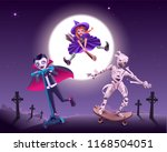 halloween zombie party. vampire ... | Shutterstock . vector #1168504051