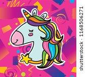 cute cartoon magic unicorn head ...   Shutterstock .eps vector #1168506271