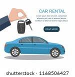 man's hand holding modern car... | Shutterstock .eps vector #1168506427
