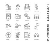 set of 16 simple line icons... | Shutterstock .eps vector #1168511647