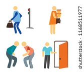 set of 4 vector icons such as... | Shutterstock .eps vector #1168511977