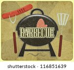 grunge design grill and... | Shutterstock .eps vector #116851639