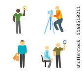 set of 4 vector icons such as... | Shutterstock .eps vector #1168518211