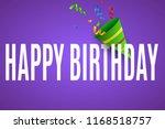 happy birthday. firecracker | Shutterstock .eps vector #1168518757