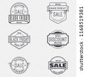 black friday sale insignia and... | Shutterstock . vector #1168519381