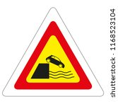 road sign quayside or river bank   Shutterstock .eps vector #1168523104