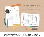 workplace   construction... | Shutterstock .eps vector #1168524547