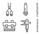 set of 4 vector icons such as... | Shutterstock .eps vector #1168526194
