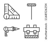 set of 4 vector icons such as... | Shutterstock .eps vector #1168526254