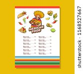 mexican food. popular mexican...   Shutterstock .eps vector #1168527667