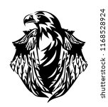 stellers eagle with closed... | Shutterstock .eps vector #1168528924