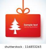 christmas applique background.... | Shutterstock .eps vector #116853265