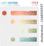 list nested polygonal symbol ... | Shutterstock .eps vector #1168535557