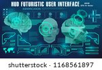 brain scanning accurate facial... | Shutterstock .eps vector #1168561897