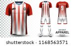 soccer jersey and football kit... | Shutterstock .eps vector #1168563571