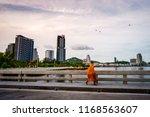 sangha on kohloy brigde   Shutterstock . vector #1168563607