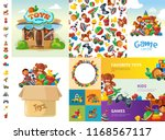 toys cartoon collection. funny... | Shutterstock .eps vector #1168567117