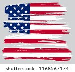 usa flag background.grunge... | Shutterstock .eps vector #1168567174