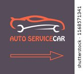 auto service. technical support ... | Shutterstock .eps vector #1168571341