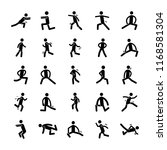 exercise icons set  | Shutterstock .eps vector #1168581304