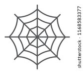 spider web thin line icon ... | Shutterstock .eps vector #1168583377