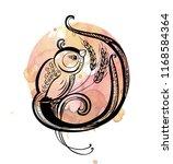 hand drawn black bird icon ....   Shutterstock .eps vector #1168584364