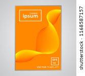 minimal business brochure cover ... | Shutterstock .eps vector #1168587157