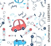 hand drawing pattern car... | Shutterstock .eps vector #1168591564