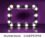 makeup mirror with lamps bulb...   Shutterstock .eps vector #1168592944