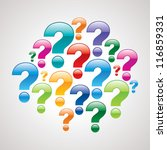 colorful question mark icons | Shutterstock .eps vector #116859331