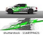 pickup truck decal wrap design... | Shutterstock .eps vector #1168594621