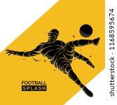 football splash soccer... | Shutterstock .eps vector #1168595674