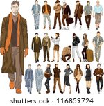 set of fashion people | Shutterstock .eps vector #116859724